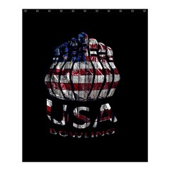 Usa Bowling  Shower Curtain 60  X 72  (medium)  by Valentinaart