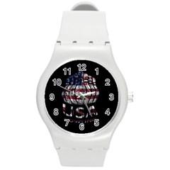 Usa Bowling  Round Plastic Sport Watch (m) by Valentinaart