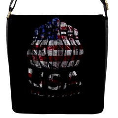 Usa Bowling  Flap Messenger Bag (s) by Valentinaart