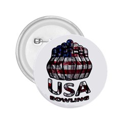 Usa Bowling  2 25  Buttons by Valentinaart