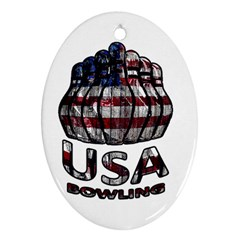 Usa Bowling  Ornament (oval) by Valentinaart