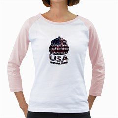 Usa Bowling  Girly Raglans by Valentinaart