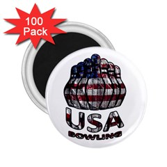 Usa Bowling  2 25  Magnets (100 Pack)  by Valentinaart