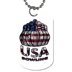 Usa Bowling  Dog Tag (two Sides) by Valentinaart