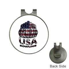 Usa Bowling  Hat Clips With Golf Markers by Valentinaart