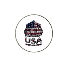Usa Bowling  Hat Clip Ball Marker (4 Pack) by Valentinaart