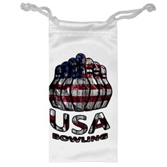 Usa Bowling  Jewelry Bag by Valentinaart