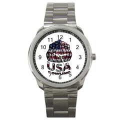 Usa Bowling  Sport Metal Watch by Valentinaart