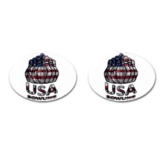 Usa Bowling  Cufflinks (oval) by Valentinaart