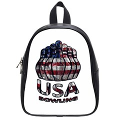 Usa Bowling  School Bags (small)  by Valentinaart