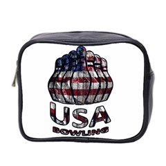 Usa Bowling  Mini Toiletries Bag 2 Side by Valentinaart
