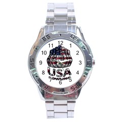 Usa Bowling  Stainless Steel Analogue Watch by Valentinaart