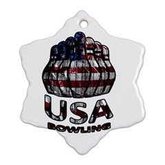 Usa Bowling  Snowflake Ornament (two Sides) by Valentinaart