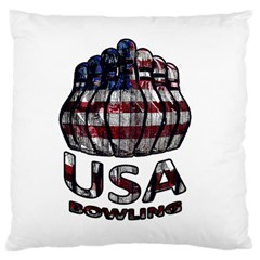 Usa Bowling  Large Cushion Case (two Sides) by Valentinaart