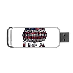 Usa Bowling  Portable Usb Flash (one Side) by Valentinaart