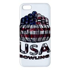 Usa Bowling  Apple Iphone 5 Premium Hardshell Case by Valentinaart