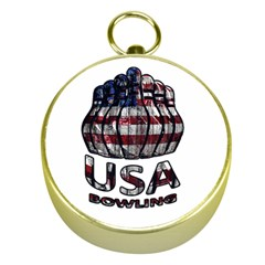 Usa Bowling  Gold Compasses by Valentinaart