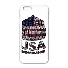 Usa Bowling  Apple Iphone 6/6s White Enamel Case by Valentinaart