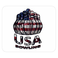 Usa Bowling  Double Sided Flano Blanket (small)