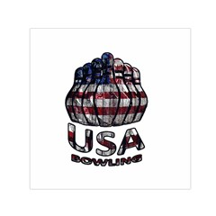 Usa Bowling  Small Satin Scarf (square) by Valentinaart