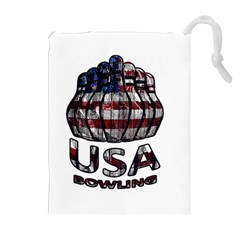 Usa Bowling  Drawstring Pouches (extra Large) by Valentinaart