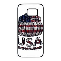 Usa Bowling  Samsung Galaxy S7 Edge Black Seamless Case by Valentinaart