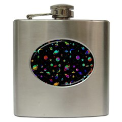 Space Pattern Hip Flask (6 Oz) by Valentinaart