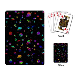 Space Pattern Playing Card by Valentinaart