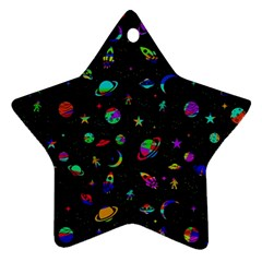 Space Pattern Star Ornament (two Sides) by Valentinaart