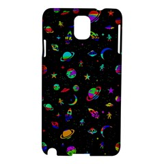 Space Pattern Samsung Galaxy Note 3 N9005 Hardshell Case by Valentinaart