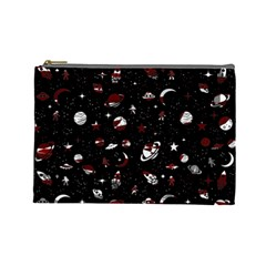 Space Pattern Cosmetic Bag (large)  by Valentinaart