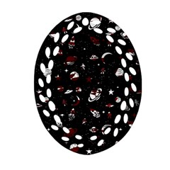 Space Pattern Ornament (oval Filigree) by Valentinaart