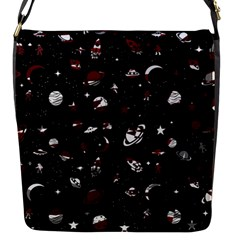 Space Pattern Flap Messenger Bag (s)