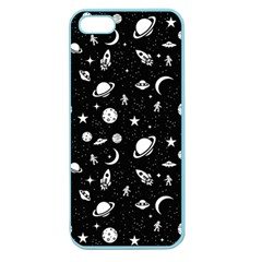 Space Pattern Apple Seamless Iphone 5 Case (color) by Valentinaart