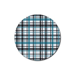 Plaid Pattern Rubber Round Coaster (4 Pack)  by Valentinaart