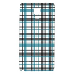 Plaid Pattern Galaxy Note 4 Back Case by Valentinaart