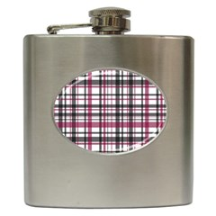 Plaid Pattern Hip Flask (6 Oz) by Valentinaart