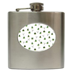 Cactus Pattern Hip Flask (6 Oz) by Valentinaart