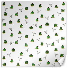 Cactus Pattern Canvas 16  X 16   by Valentinaart