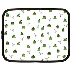 Cactus Pattern Netbook Case (xl)  by Valentinaart