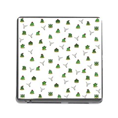 Cactus Pattern Memory Card Reader (square) by Valentinaart