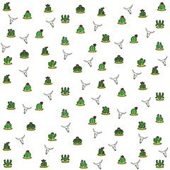 Cactus Pattern Magic Photo Cubes by Valentinaart