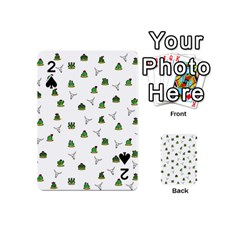 Cactus Pattern Playing Cards 54 (mini)  by Valentinaart