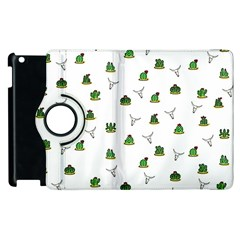 Cactus Pattern Apple Ipad 3/4 Flip 360 Case by Valentinaart
