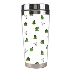 Cactus Pattern Stainless Steel Travel Tumblers by Valentinaart