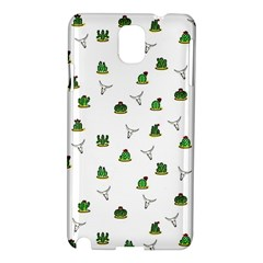 Cactus Pattern Samsung Galaxy Note 3 N9005 Hardshell Case by Valentinaart