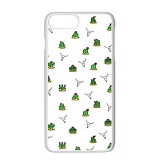 Cactus Pattern Apple Iphone 7 Plus White Seamless Case by Valentinaart