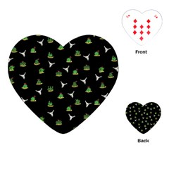 Cactus Pattern Playing Cards (heart)  by Valentinaart