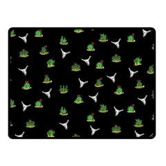 Cactus Pattern Fleece Blanket (small)