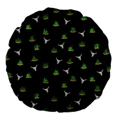 Cactus Pattern Large 18  Premium Round Cushions by Valentinaart